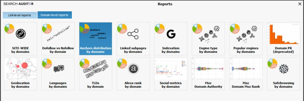Domain level reports
