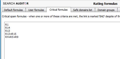 Crtitical spam formulas